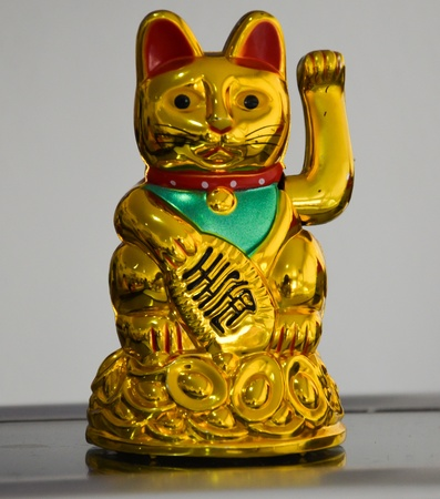 Oriental Lucky Cat Figure  photo