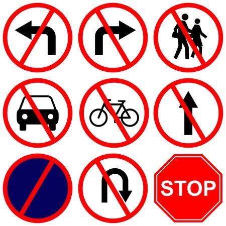 señales de transito: Camino Prohibido Entrar En El Fondo Blanco