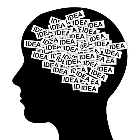 Business Idea Concept in Brain Isolated on White Background Stock Photo - 13329007