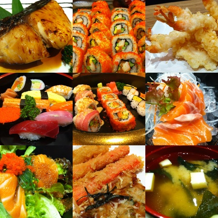 Photo Set of Japanese Food photo