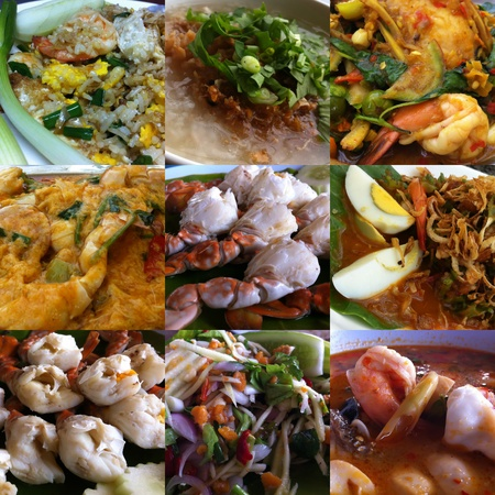 Set of Thai Seafood Stock Photo - 13400972