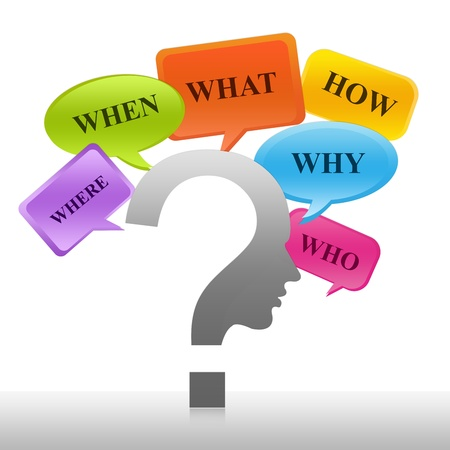 Problem Solving Concept - Question Mark With Many Question Stock Photo - 13501515