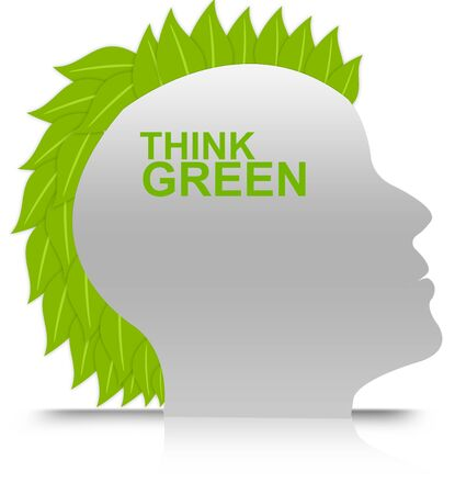 Think Green Idea Concept Stock Photo - 13501512