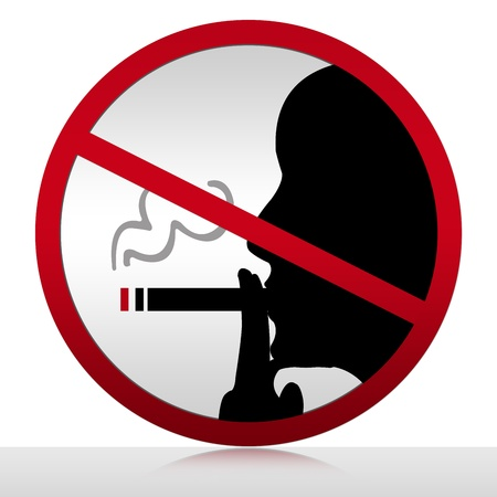 Non Smoking Area Sign Isolated on White Stock Photo
