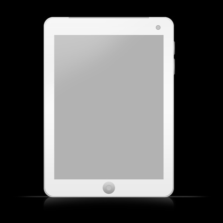 Blank White Tablet PC Isolate on White Background Stock Photo - 14604997
