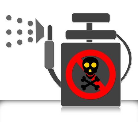 Insecticide Spray Tank Isolated on White Background Reklamní fotografie - 14669828