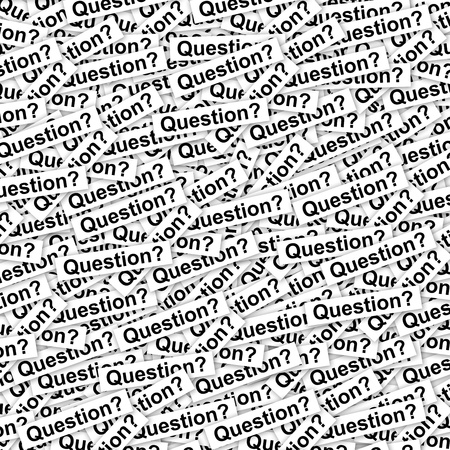 interrogatory: Group of Many Question Label Background  Stock Photo