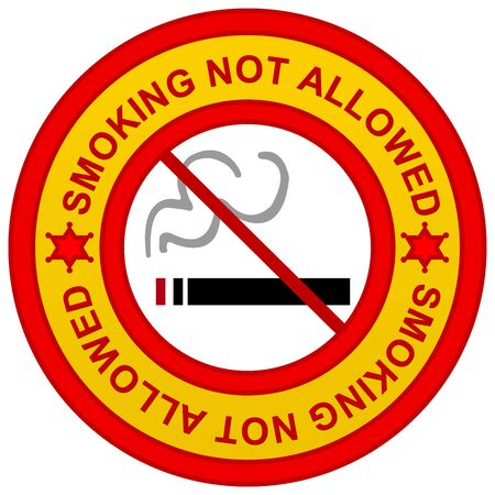 disallow: Smoking Not Allowed No Smoking Area Sign Isolated on White  Stock Photo