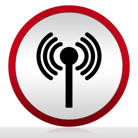 Circle Wifi Sign Isolate on White Background  Stock Photo - 14686995