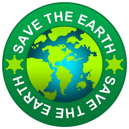 Save The Earth Circle Sign for Save The Earth Concept Isolated on White Background  Stock Photo - 14687227