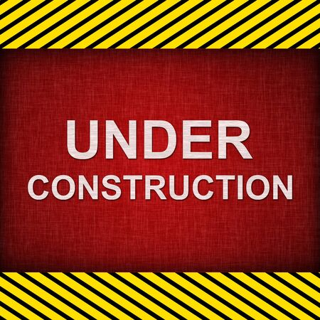 Red Grunge Under Construction Sign Stock Photo - 14768329