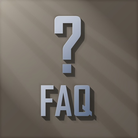 3D FAQ With Question Mark photo