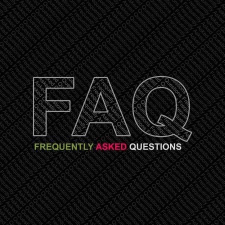 chiesto: FAQ, Frequently Asked Questions Concetto Archivio Fotografico