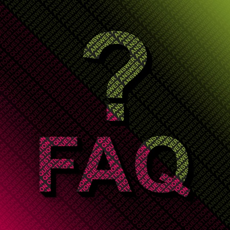 Frequently Asked Questions With Question and Answer Background  Stock Photo - 14768331