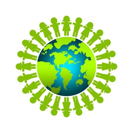 analog�a: Guardar El Concepto de la Tierra para la campa�a de marketing Aislado sobre fondo blanco