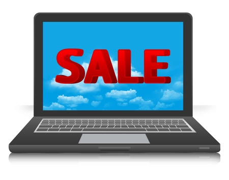 The Computer Notebook Show Internet Promotion Discount And Reductions Stock Photo - 16711750