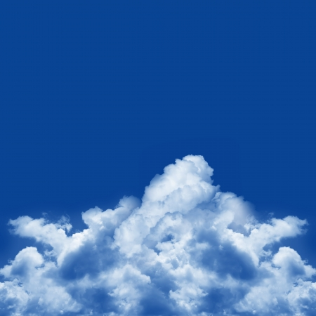 The Blue Sky Background For Text Message  Stock Photo - 16711759