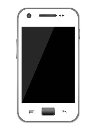White Smart Phone With Blank Screen for Your Own Text Isolate on White Background  Stock Photo - 17404148