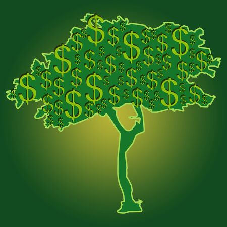 Money Growing on Tree for Business Concept  photo