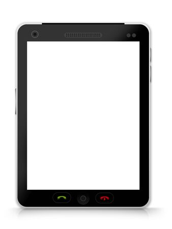 Realistic Blank Black Tablet PC Isolate on White Background  Stock Photo - 17452832
