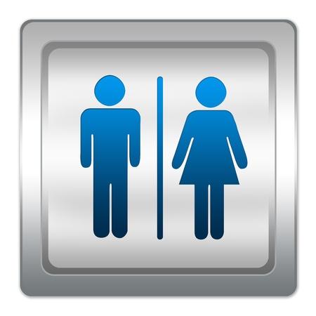 Fürdőszoba Címke Vagy Jelzés, Fehér Alapon. Royalty Free Stock ...