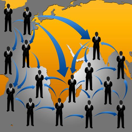 Social Network Concept With Many Businessman in The Network Connection  Stock Photo - 17455086