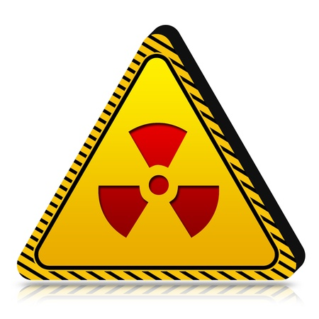3d Yellow Triangle Under Caution or Dander Sign Isolated on White Background Stock Photo - 17455075