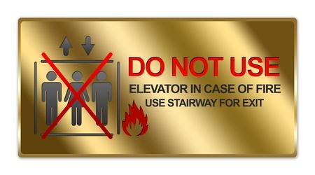 no correr: Rect�ngulo met�lico del oro Estilo Plate For No Fumar signo aislado en el fondo blanco