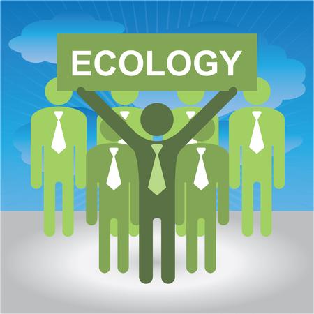 contaminacion del medio ambiente: Recicle, ahorre la tierra o Detener el Calentamiento Global Concepto Actual Por Grupo de Negocios Con Verde Ecolog�a Entrar cielo azul de fondo