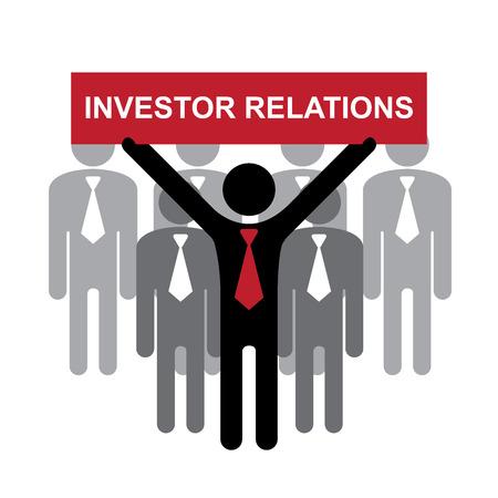 品質管理システム、品質保証および品質管理の概念現在の赤の投資家があるビジネスマンのグループによって白い背景で隔離の手の記号 写真素材