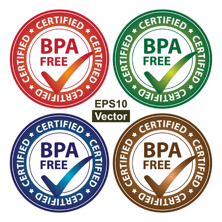 bpa: Vector : Colorful Circle Glossy Style BPA Free Certified Sticker, Icon or Label Isolated on White Background