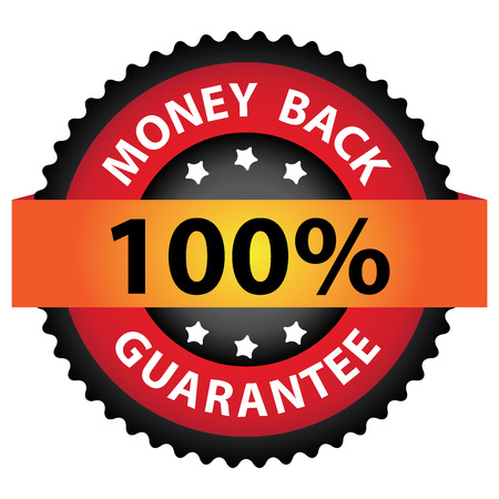 Red 100% Money Back Guarantee Icon, Badge, Sticker or Label Isolated on White Background Reklamní fotografie
