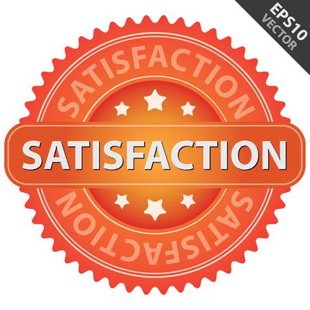 management qualit�: Vecteur: Qualit� Management Systems, l'assurance qualit� et de contr�le de qualit� Concept Pr�sent Par Orange brillant style satisfaction Ic�ne isol� sur fond blanc