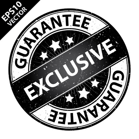 quality assurance: Vector : Quality Management Systems, Quality Assurance and Quality Control Concept Present By Exclusive Label on Black Grunge Glossy Style Icon With Guarantee Text Around Isolated on White Background
