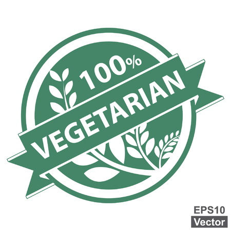 product healthy: Vettore: prodotto sano o informazioni sul prodotto Presente Per Green stile dell'annata Tag, autoadesivo, etichetta o il badge con 100 Percent testo, nastro vegetariana e Ritaglia, cereali o grano Registrati isolati su bianco