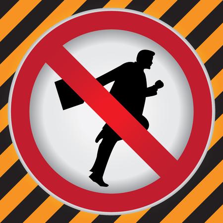 no correr: C�rculo Prohibido Entrar Para Ninguna muestra de Rodaje Precauci�n Zona Oscura y fondo amarillo