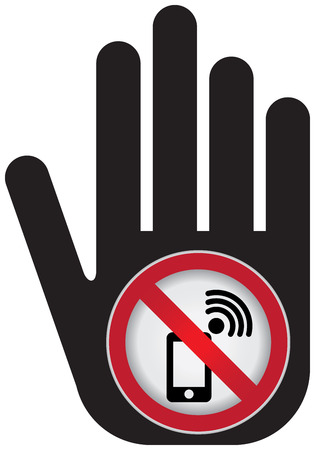 turn off: Turn Off Your Mobile Phone or Mobile Phone Are Not Allowed Prohibited Sign Present By Hand With Mobile Phone Are Not Allowed Prohibited Sign Inside