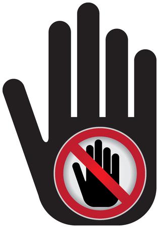 no pase: No Introducir Prohibida presente firma a mano con No incorpore la muestra dentro Foto de archivo