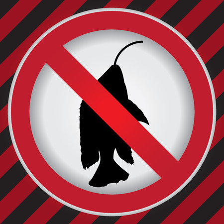 rod sign: Circle Prohibited Sign For No Fishing Sign in Caution Zone Dark and Red Background Stock Photo