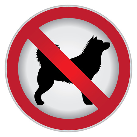 prohibido: C�rculo Prohibido Entrar Para No Perro o No Animal sesi�n Foto de archivo