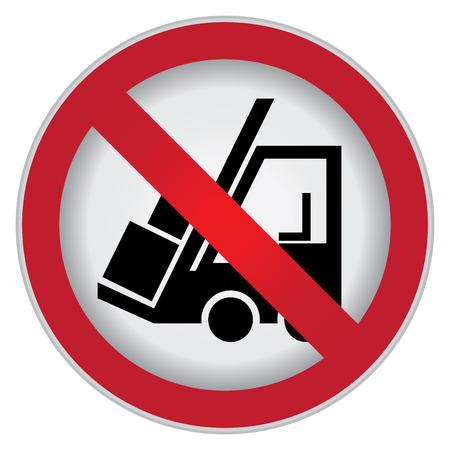 prohibido: C�rculo Prohibido Entrar Para No Forklift sesi�n