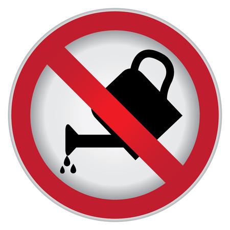 サークルは散水や白い背景のない工場記号分離記号を禁止 写真素材