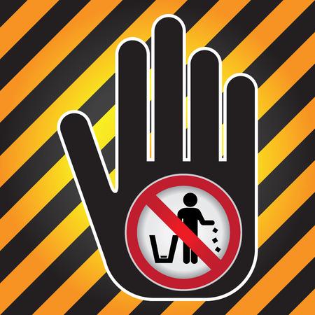 botar basura: No tirar basura, por favor, utilice un bote de basura o por favor evita Area Clean Concept Presente a mano con no tirar basura Iniciar Dentro de Precauci�n Zona Oscura y fondo amarillo