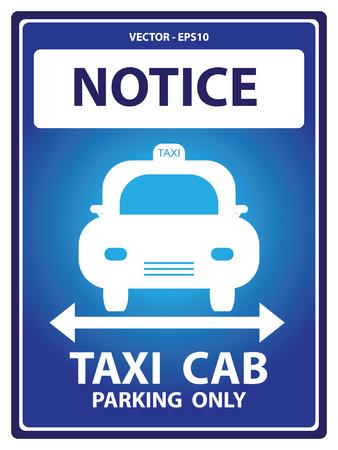 Avviso Blue Plate Per Presente Sicurezza Per Notice e Taxi Cab Parcheggio Solo Testo Con Taxi segno isolato su sfondo bianco Archivio Fotografico - 34756856