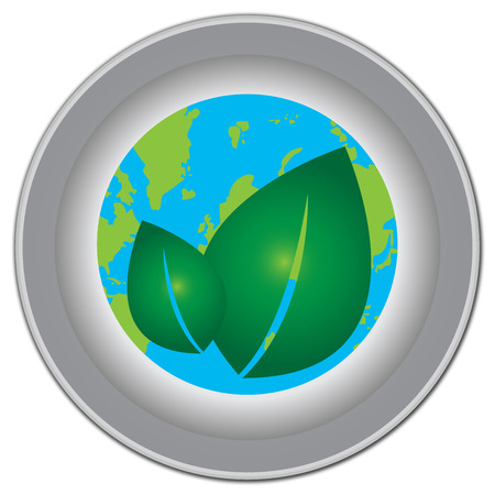 stop global warming: Save The Earth, Stop Global Warming Or Recycle Concept Present By Earth and Green Leaf Inside Isolate on White Background