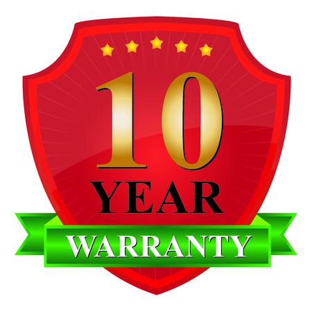 10 Year Warranty Icon photo