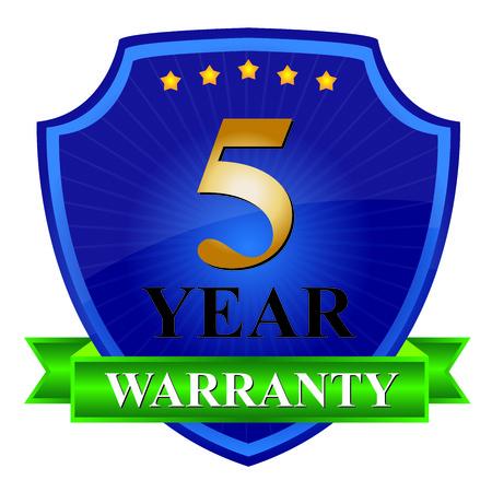5 Year Warranty Icon photo