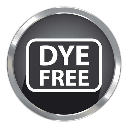 black dye: Circle Shape Black Metallic Style Dye Free Icon, Button or Label Isolated on White Background