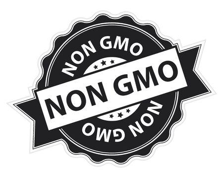 non: Black Non GMO Stamp, Label, Sticker, Icon or Badge Isolated on White Background