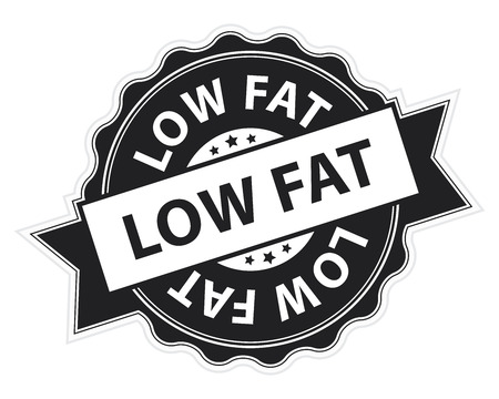low cal: Black Low Fat Stamp, Label, Sticker, Icon or Badge Isolated on White Background
